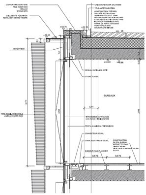 Sezione facciata ventilata